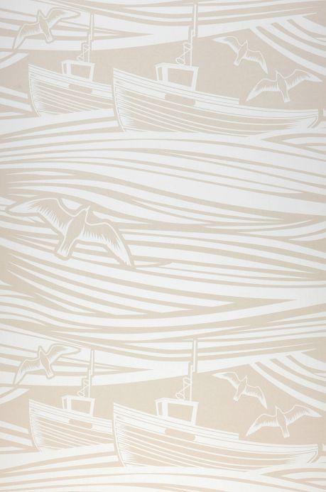 Design Wallpaper Wallpaper Ulysses light beige Bahnbreite