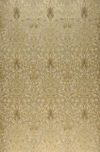 Wallpaper Scarlett Matt pattern Shimmering base surface Floral damask Pearl gold Grey brown Light brown Light ivory