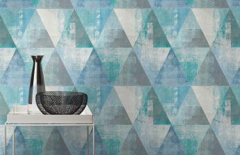 Wallpaper Sarino turquoise blue