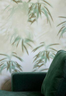 Papier peint Tonga vert olive Vue pièce
