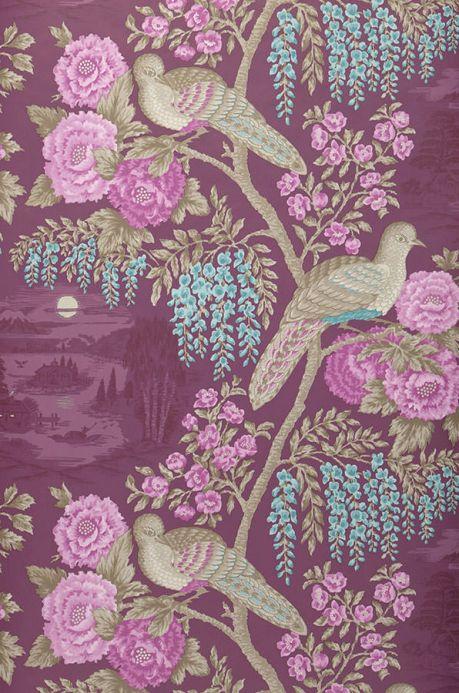 Archiv Papel de parede Infinito violeta Largura do rolo