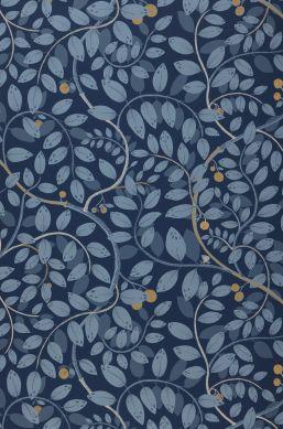Papel de parede Grada azul escuro Bahnbreite