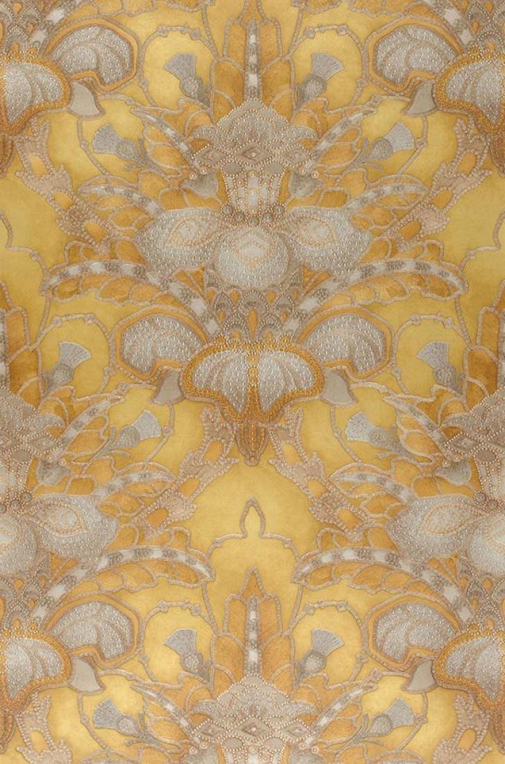 papier peint malsumi dor beige nacr or nacr gris argent papier peint des ann es 70. Black Bedroom Furniture Sets. Home Design Ideas