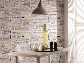 Wallpaper Laurito Matt Words White Yellow Black