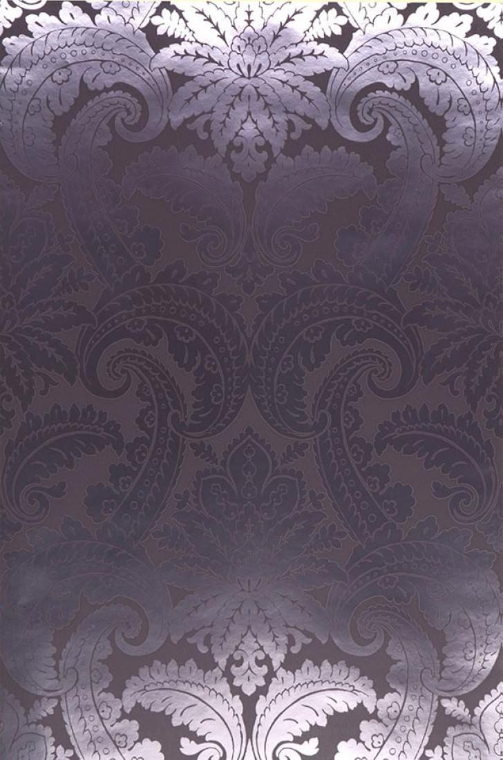 Papel pintado nemesis gris negruzco plata lustre - Papeles pintados de los 70 ...