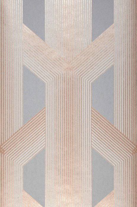 Wallpaper Nama Shimmering pattern Matt base surface Graphic elements Stripes Grey Light grey Rosewood shimmer