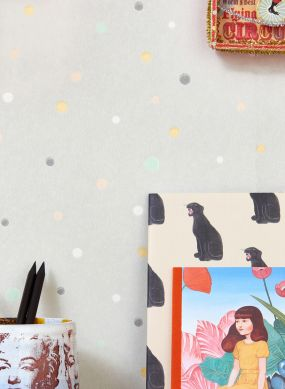 Wallpaper Stardust light grey Room View