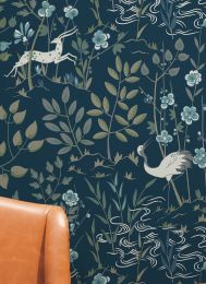 Wallpaper Carumba black blue