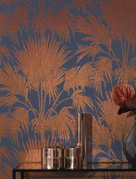 Papel pintado Lorella cobre brillante