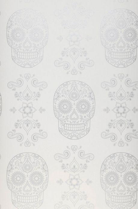 Archiv Papier peint Dia de los Muertos blanc crème Largeur de lé