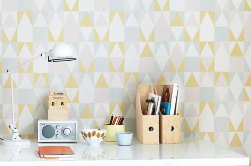 Du papier peint pour l tude ou le bureau la maison la for La maison du papier peint