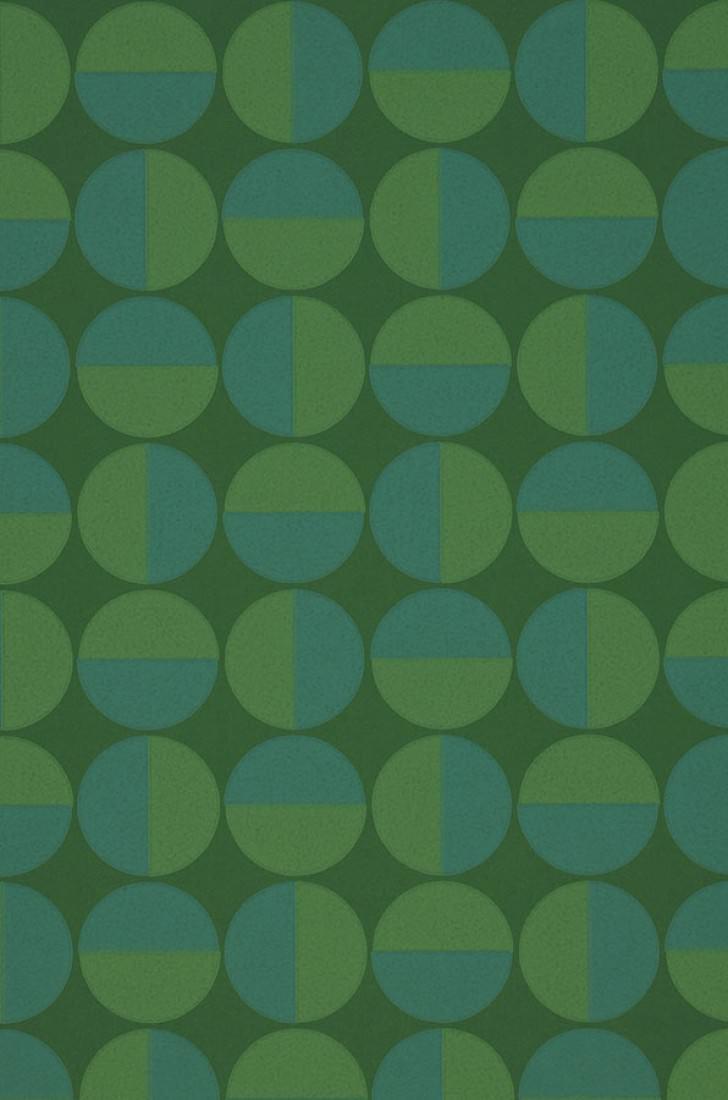 papier peint wahida vert feuillage vert bleu papier peint des ann es 70. Black Bedroom Furniture Sets. Home Design Ideas