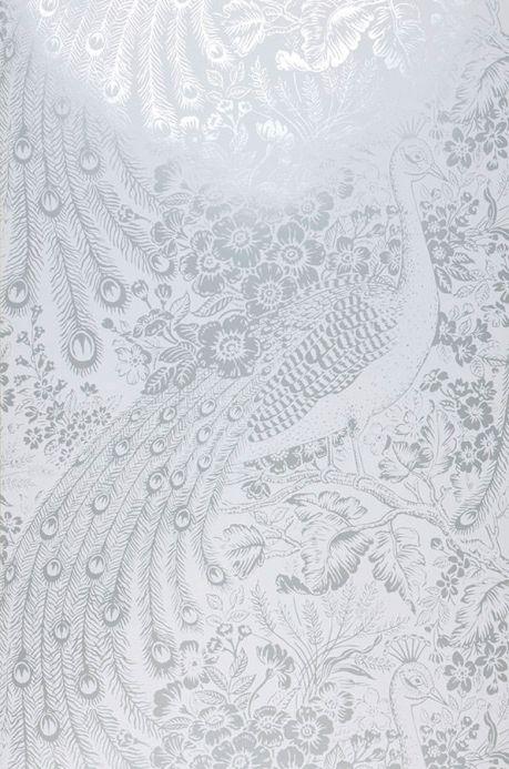 Papier peint métallique Papier peint Izanuela blanc Largeur de lé