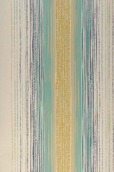 Wallpaper Artenas Matt Stripes Light ivory Light grey beige Mint turquoise Ochre yellow Violet blue
