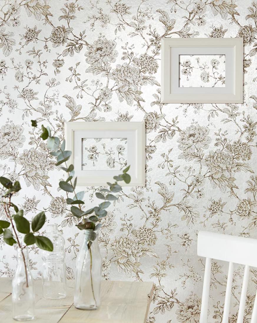 Elena argento metallico antracite beige bianco crema for Carta parati lusso