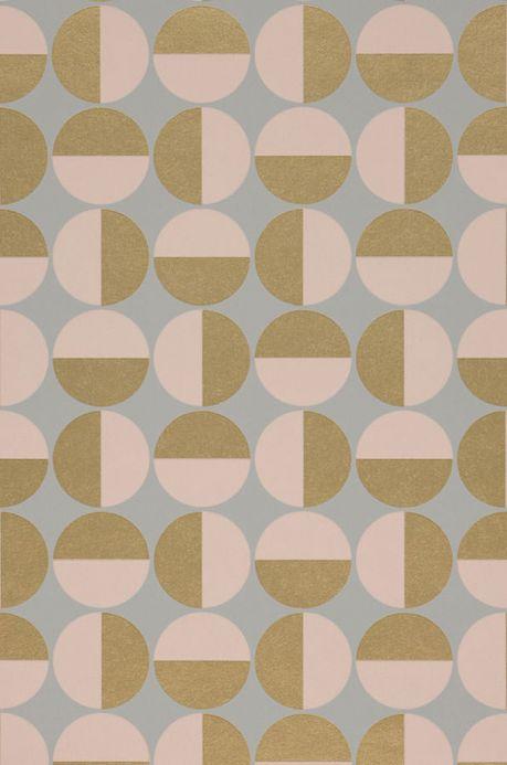 Geometric Wallpaper Wallpaper Wahida pale pink A4 Detail