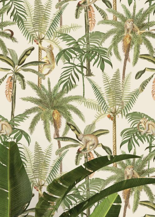 New arrivals! Wallpaper Greenery shades of green Room View