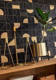 Wallpaper Cubit black grey