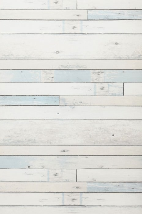 Wallpaper Shabby Planks Matt Shabby chic Old wooden boards Pale blue Cream Grey Grey white