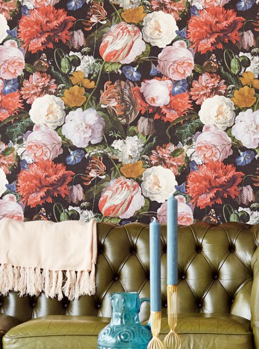 Floral Wallpaper Wallpaper Doriana red Room View