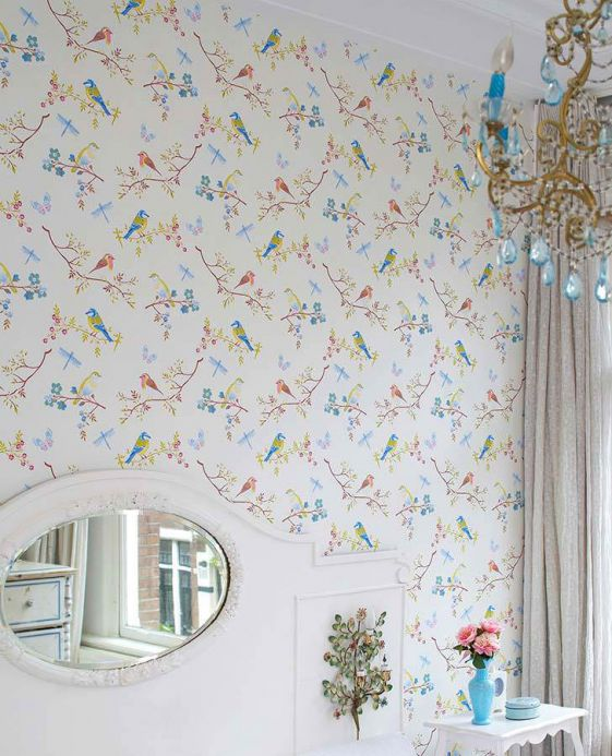Wallpaper Wallpaper Audrey cream pearl lustre Room View