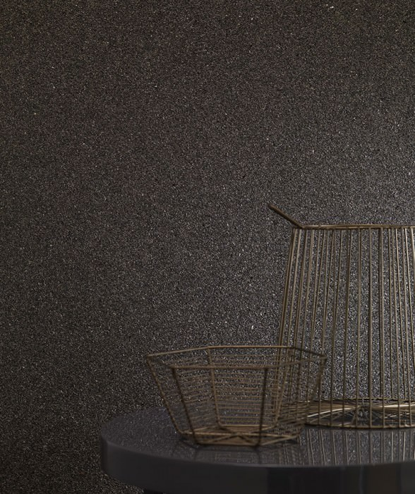 Papier peint Mica Classic 01 Mat Unicolore Gris olive Beige nacré Gris noir