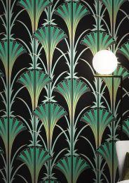 Papel pintado Morley verde pátina
