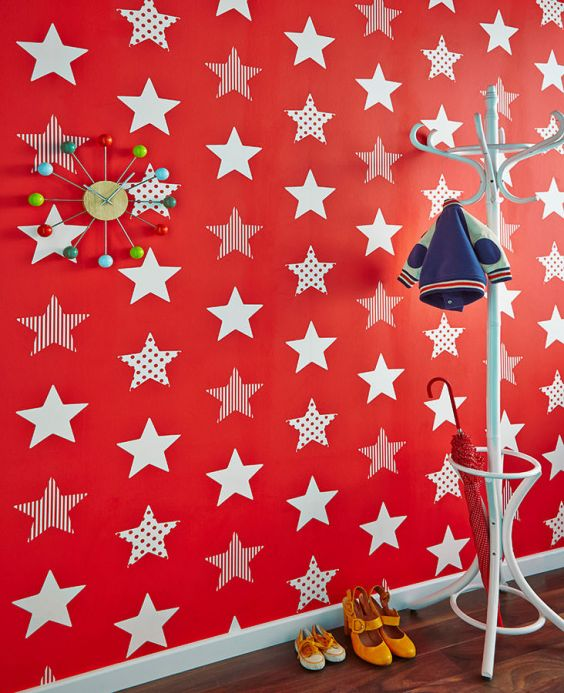 Children's Wallpaper Wallpaper Adenike red Room View