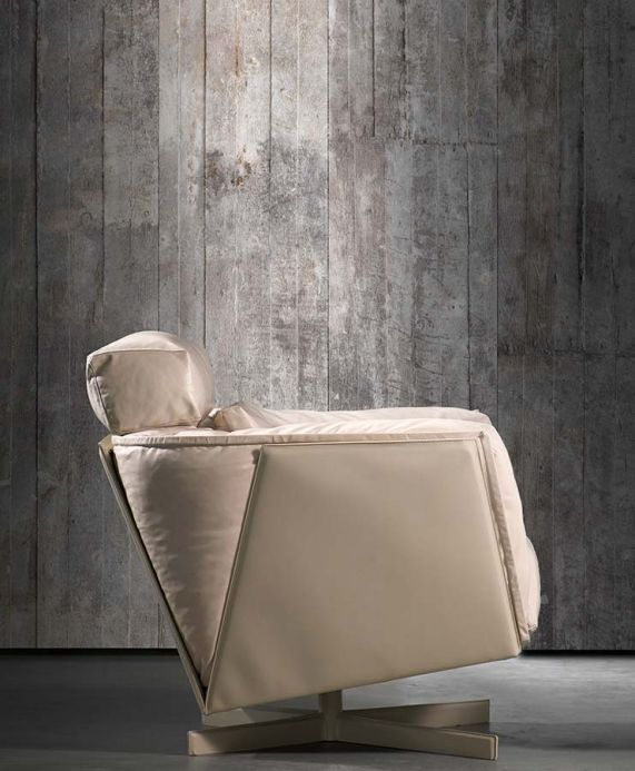 Industrial Style Wallpaper Wallpaper Concrete 02 grey Room View