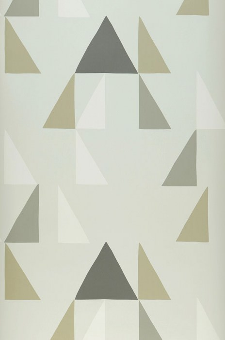 Wallpaper Deneris Matt Triangles Grey white Anthracite grey Beige grey Cream Grey beige