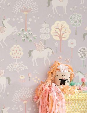 Papel pintado True Unicorns gris Ver habitación