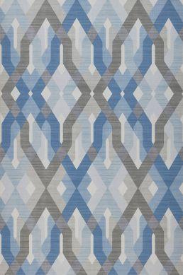 Wallpaper Karus blue Roll Width