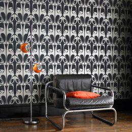 Wallpaper Megamba black grey