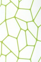 Carta da parati Edina Opaco Arte moderna Bianco Verde giallastro lucido