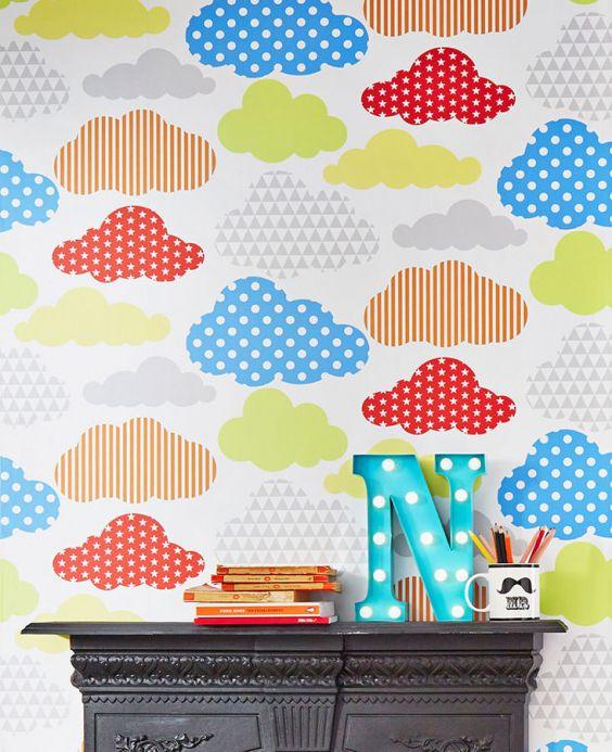 Papel de parede infantil Papel de parede Cendie azul Ver quarto