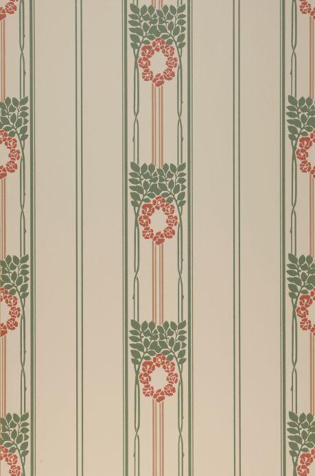 Papel de parede Art Nouveau Papel de parede Imke vermelho Largura do rolo