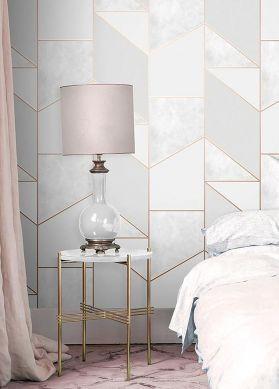 Wallpaper Emela grey tones Room View
