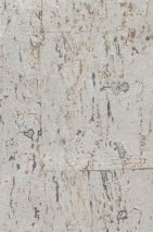Papel pintado Natural Cork 02 Brillante Unicolor Plata