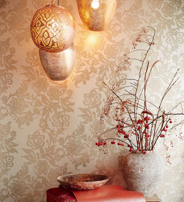 Metallic Wallpaper Wallpaper Siduri gold lustre Room View