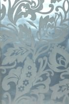 Wallpaper Aphrodite Matt pattern Shimmering base surface Floral Elements Pale turquoise Pale green