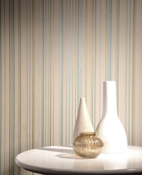 Archiv Wallpaper Merletto pastel turquoise Room View