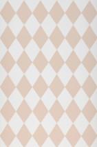 Wallpaper Harlequin Hand printed look Matt Rhombuses White Rosewood