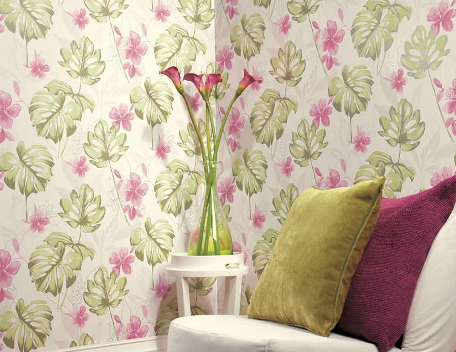 Archiv Wallpaper Ratinga pale green Room View