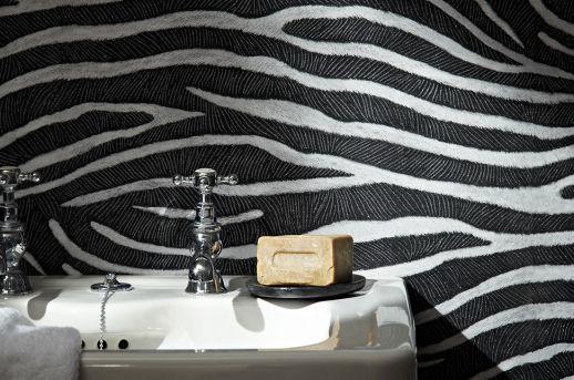 Wallpaper Merula black grey Room View