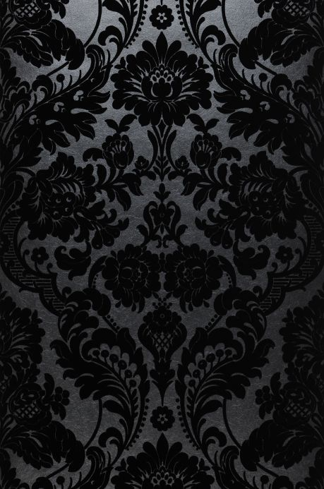 Papier peint baroque Papier peint Okina noir Bahnbreite