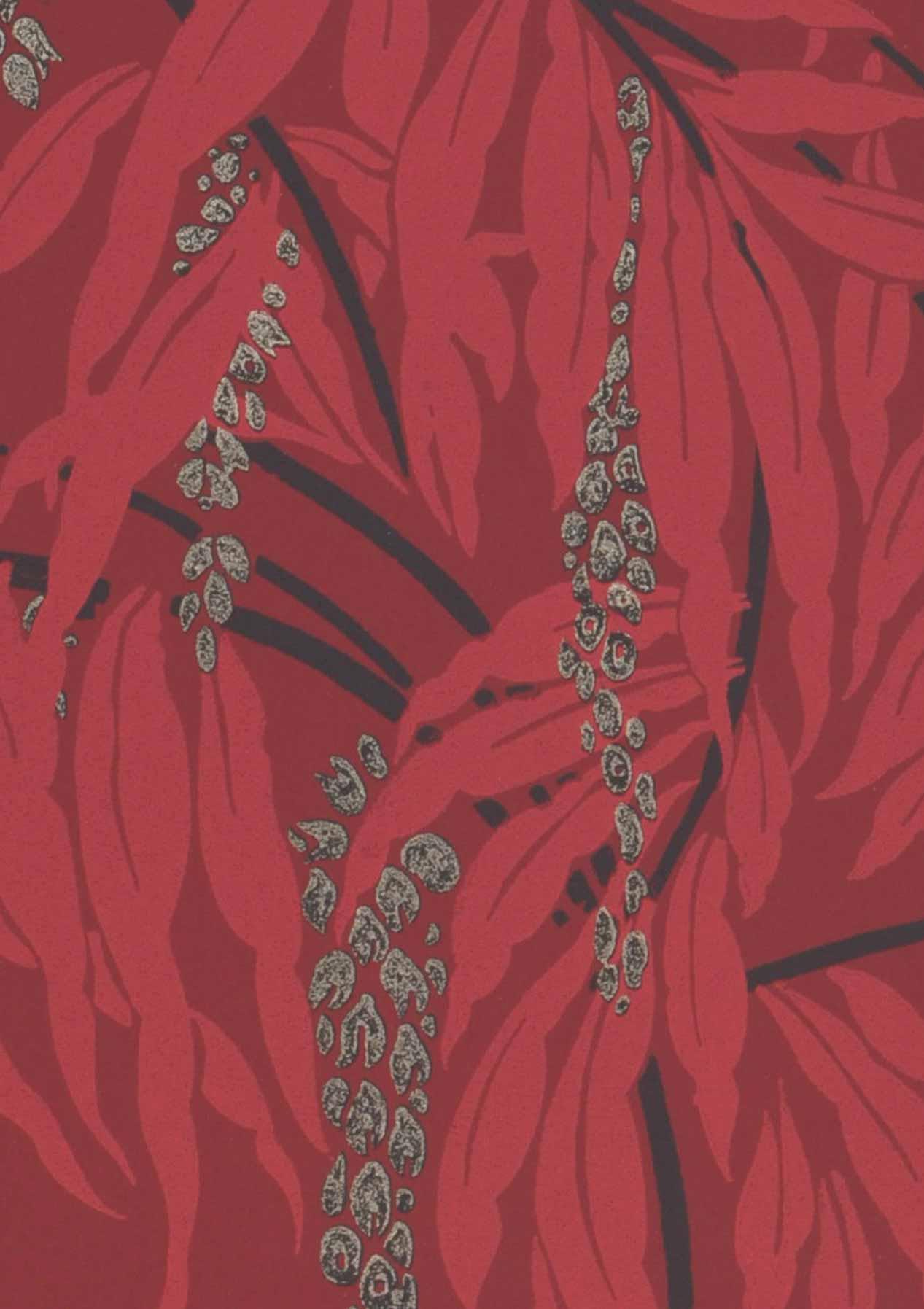 Tapete maringa weinrot anthrazit perlbeige ros for Tapete weinrot muster