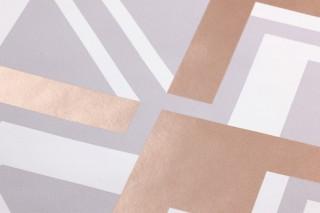 Papier peint Nerea Motif chatoyant Surface mate Éléments graphiques Gris Blanc Bois de rose chatoyant