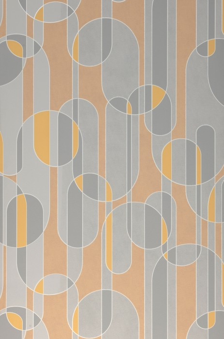 Wallpaper Asenio Matt Graphic elements White Grey Light yellow Light grey Pastel yellow