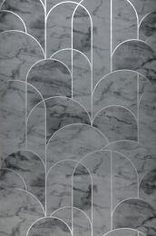 Papier peint Zania gris foncé