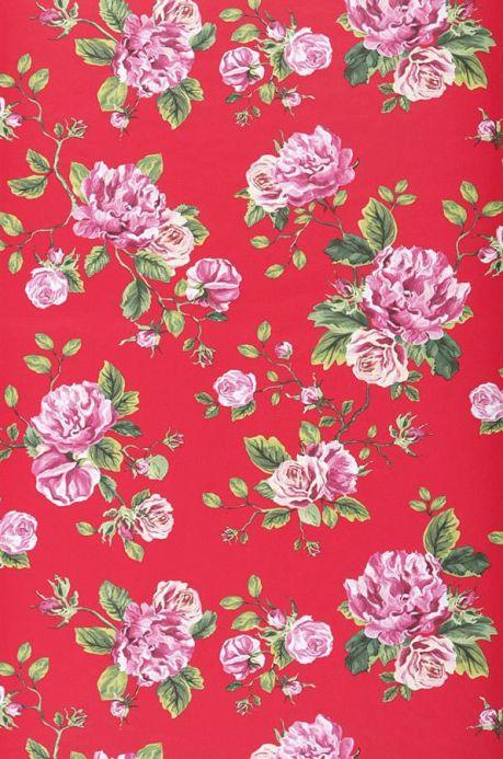 Archiv Papier peint Isabelle rouge Largeur de lé
